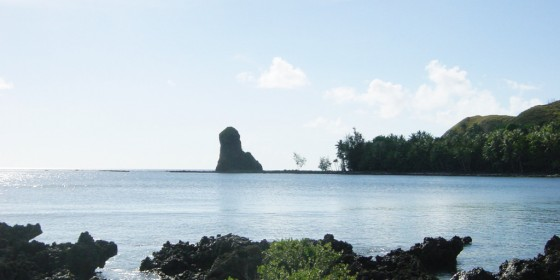 Fouha rock that guards the mouth of the Fouha Bay - Guam
